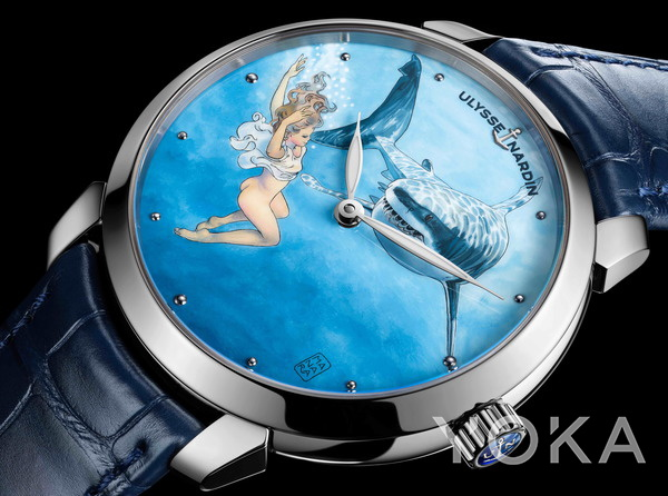 Ulysse Nardin鎏金马那哈系列腕表(图片来源于品牌)