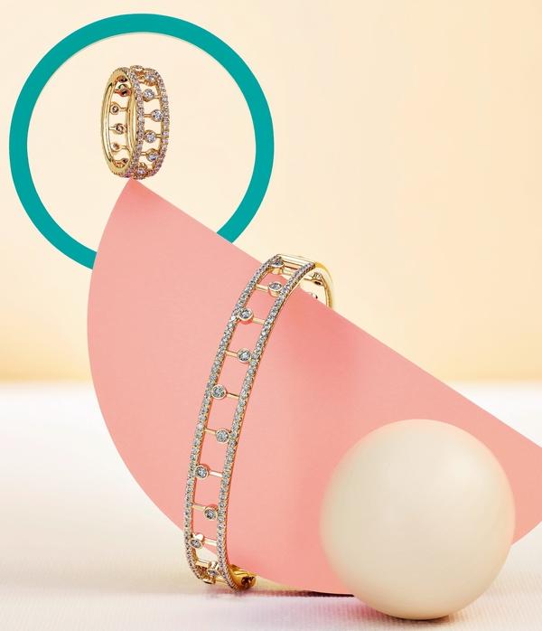 戴比尔斯全新Dewdrop黄金款式  图片源自品牌