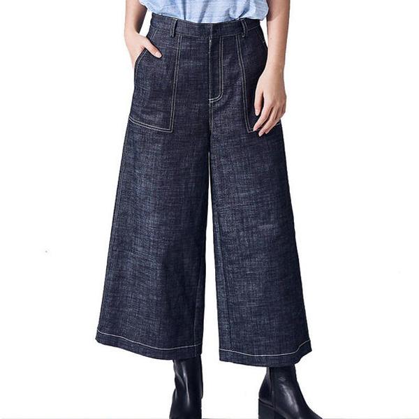 时髦的七分牛仔裤 矮个女生也能穿出大气场