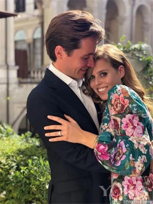 比阿特丽斯和未婚夫马佩利·莫兹(图片来源于The Sun)