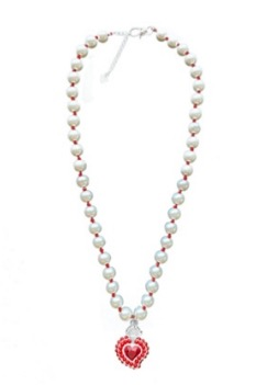 Whensmokeclears® Radiant Bead red heart bead necklace