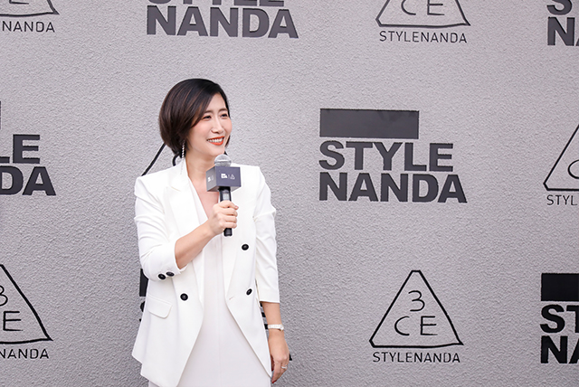 ▲3CE中国品牌总经理马岚(Angie MA)